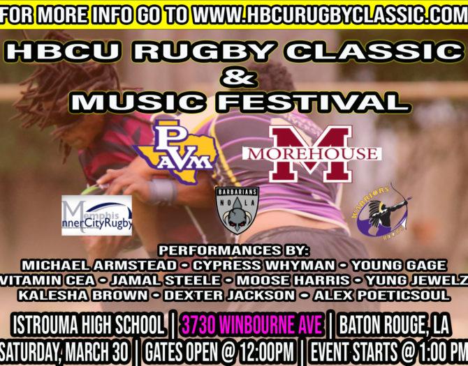 2nd Annual HBCU Rugby Classic & Music Festival
